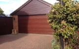 Brown Insulated Roller Garage Door