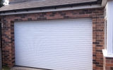White Insulated Roller Garage Door