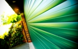 Green Insulated Roller Garage Door