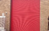 Red Powder Coated Roller Shutter