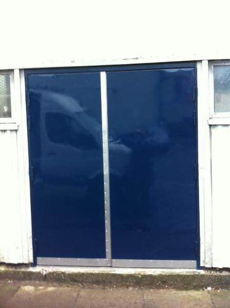 Industrial Steel Security Doors : Steel security doors fire escapes