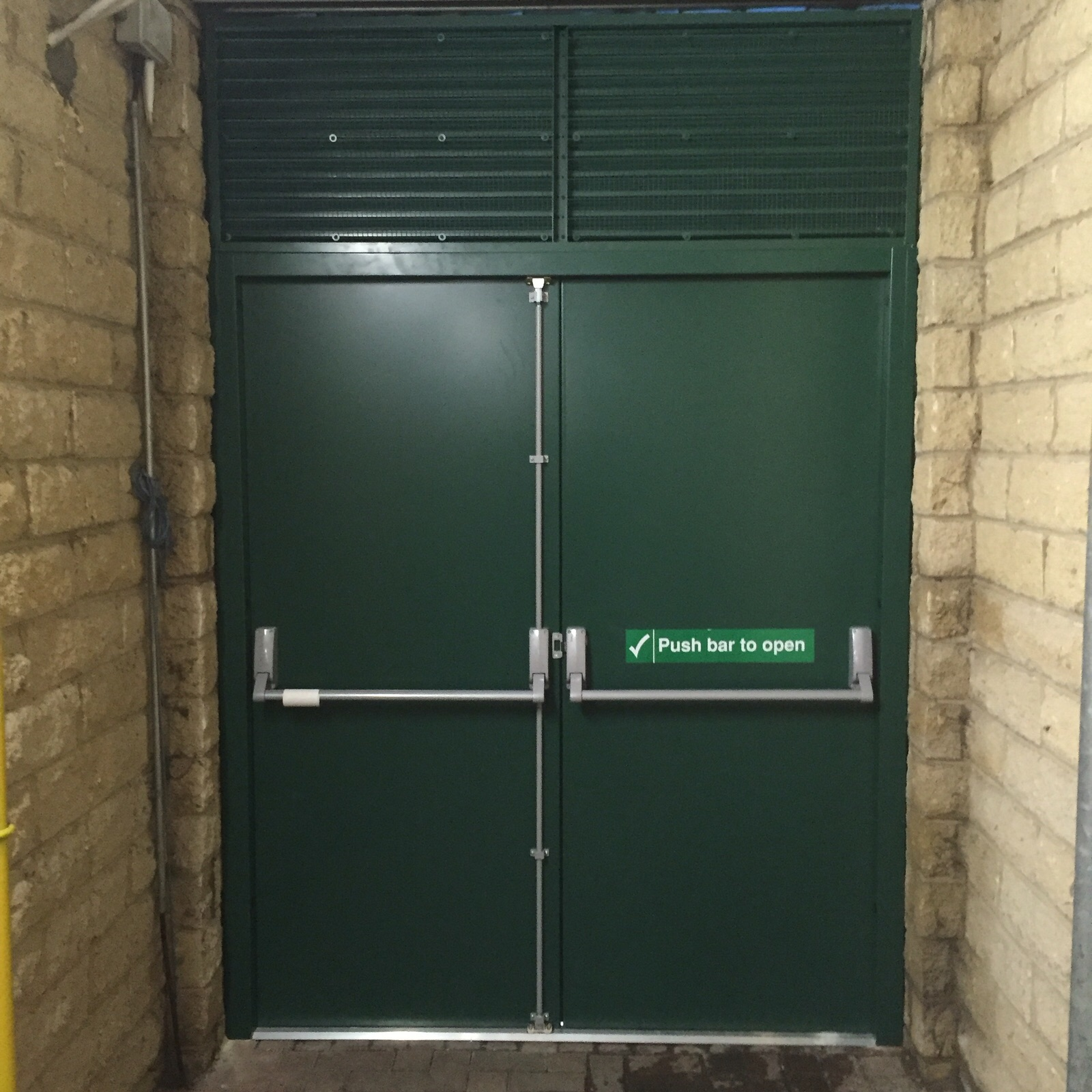 Industrial steel doors exterior for Metal security doors