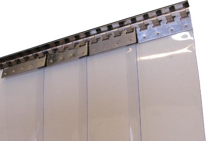 upvc strip curtain close up