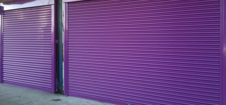 Powder Coated Shop Front Roller Shutters