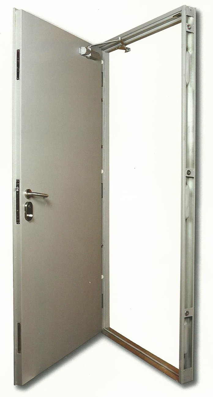 Steel security doors fire escapes for Metal entry doors
