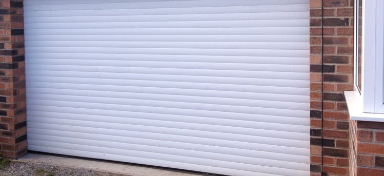 White Roller Garage Door