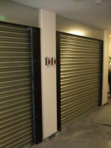 Fire Rated shutters installed for commercial and retail units use providing a security barrier