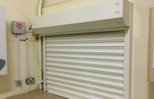 Fire Shutters in industrial and commercial applications, 75mm - 1 Hour Fire Rated shutter installed